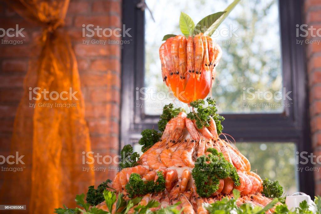 Frozen foods of prawns show - Royalty-free Animal Body Part Stock Photo