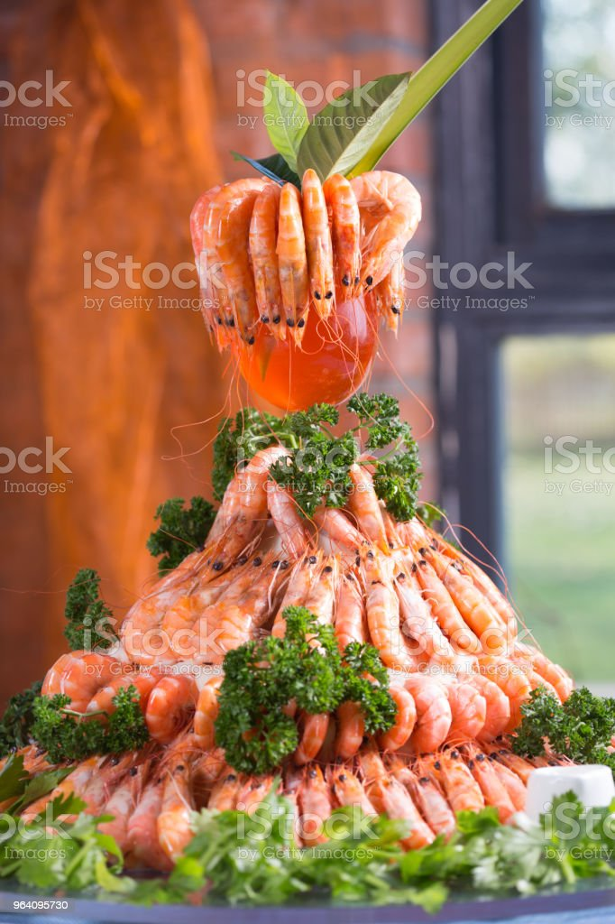 Frozen foods of prawns show - Royalty-free Animal Body Part Stock Photo