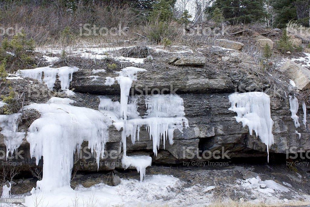 Frozen fountain stock photo