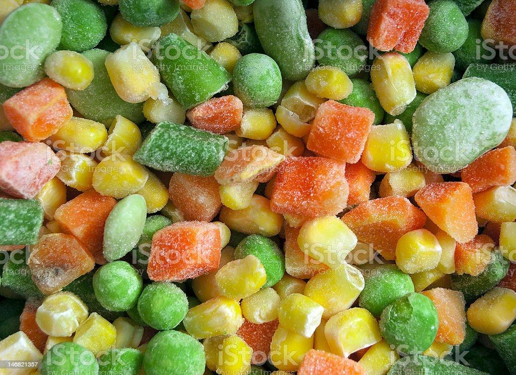 Frozen Frosty Vegetables stock photo