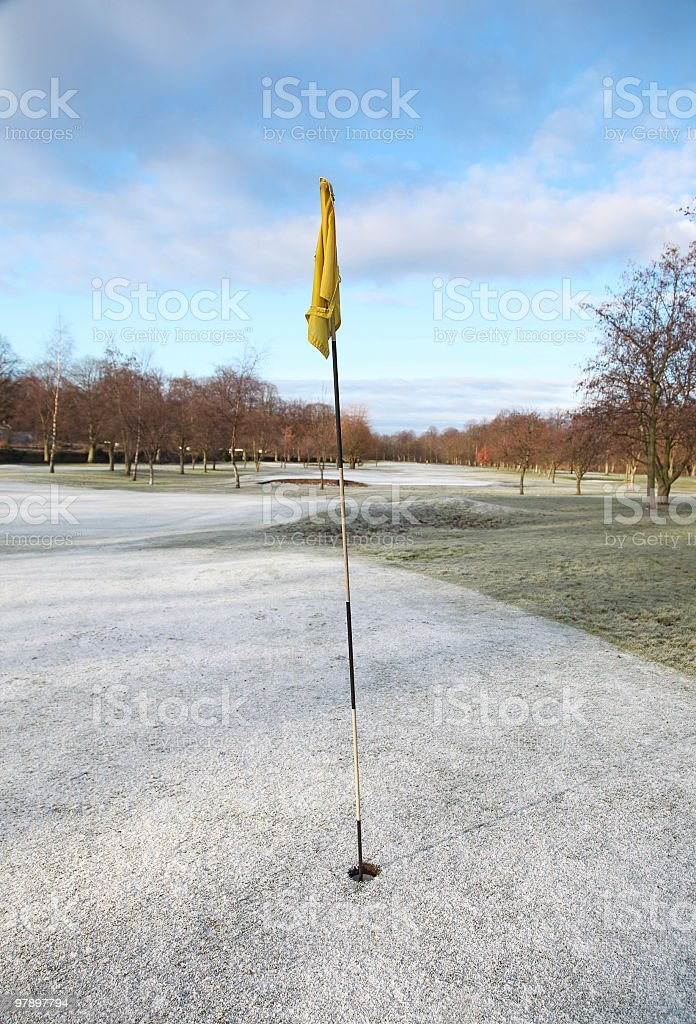 Frozen Golf Course royalty-free stock photo