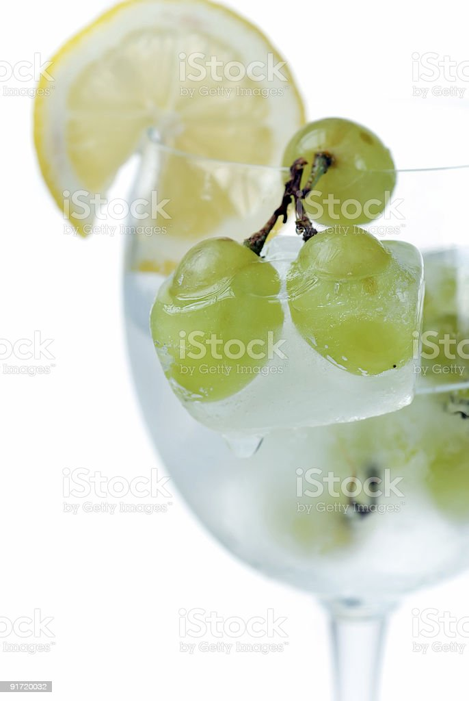 Frozen Grapes royalty-free stock photo