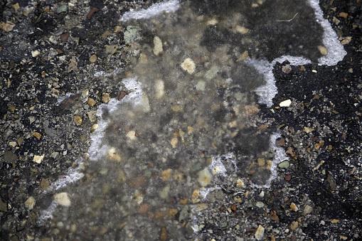 Frozen ground ice