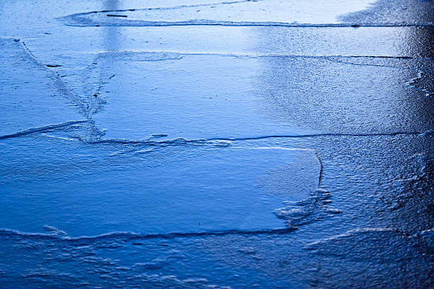 Frozen ice floes stock photo