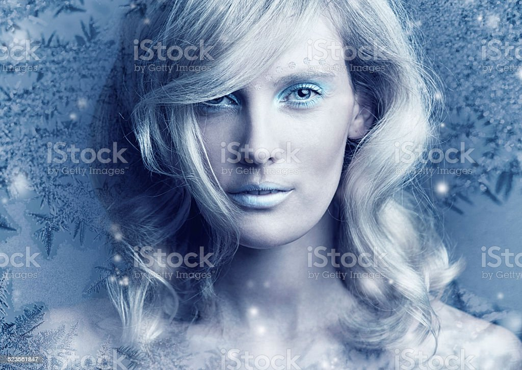 Frozen in her perfection stock photo