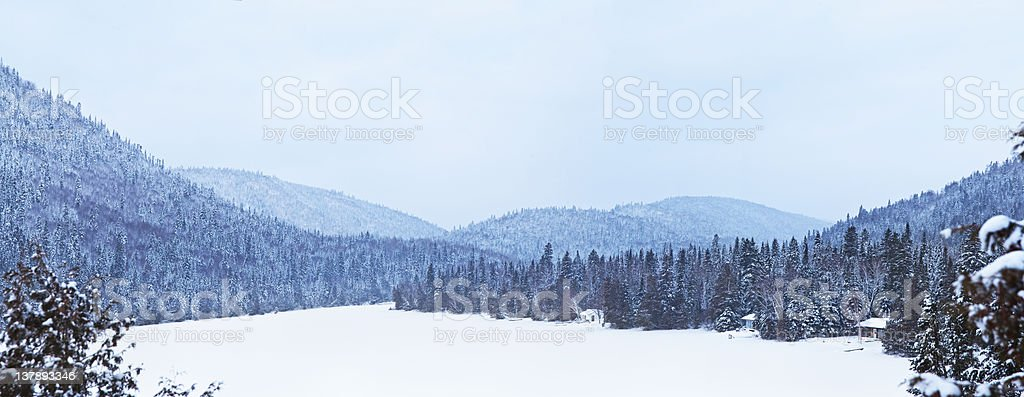 frozen lake during the winter royalty-free stock photo