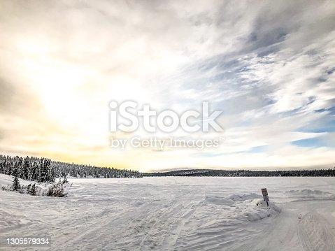 istock Frozen Lake in Interior Alaska 1305579334
