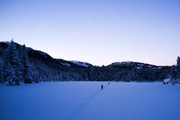 Zugefrorenen See – Foto