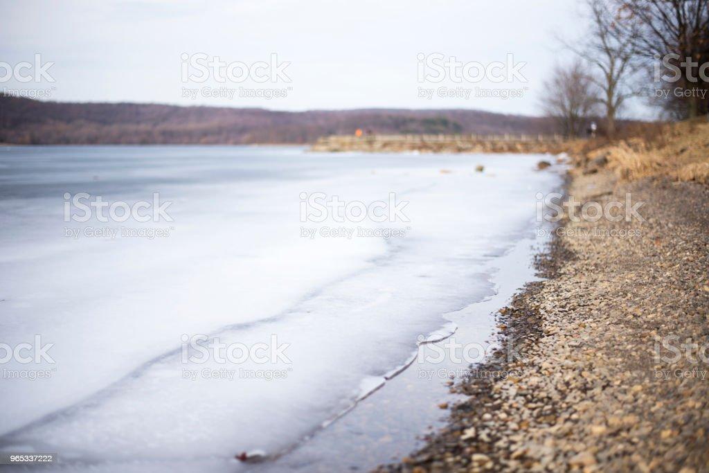 Frozen Lake zbiór zdjęć royalty-free