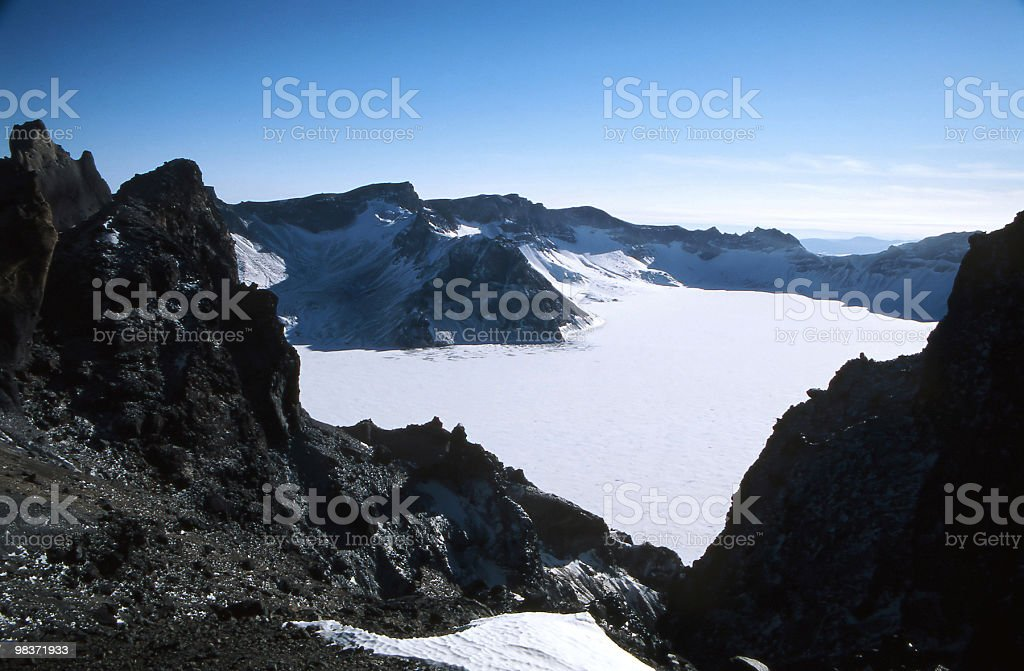 frozen lake royalty-free stock photo