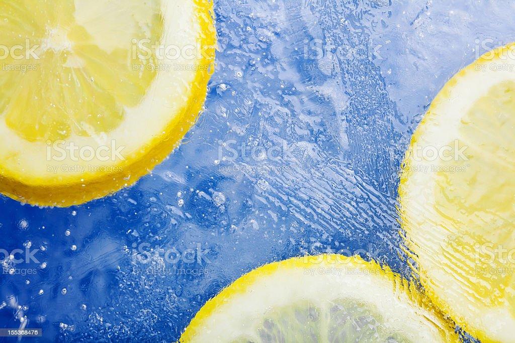 Frozen Lemon Slices. royalty-free stock photo