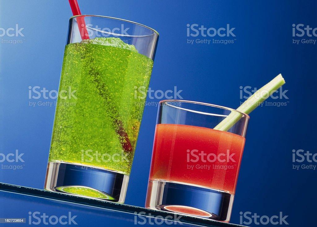 Frozen Lemonade & Bloody Mary royalty-free stock photo