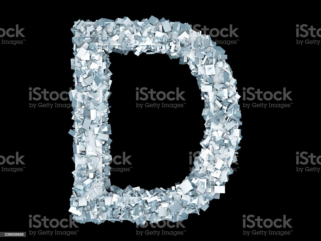 Frozen Letter D Stock Photo - Download Image Now - iStock