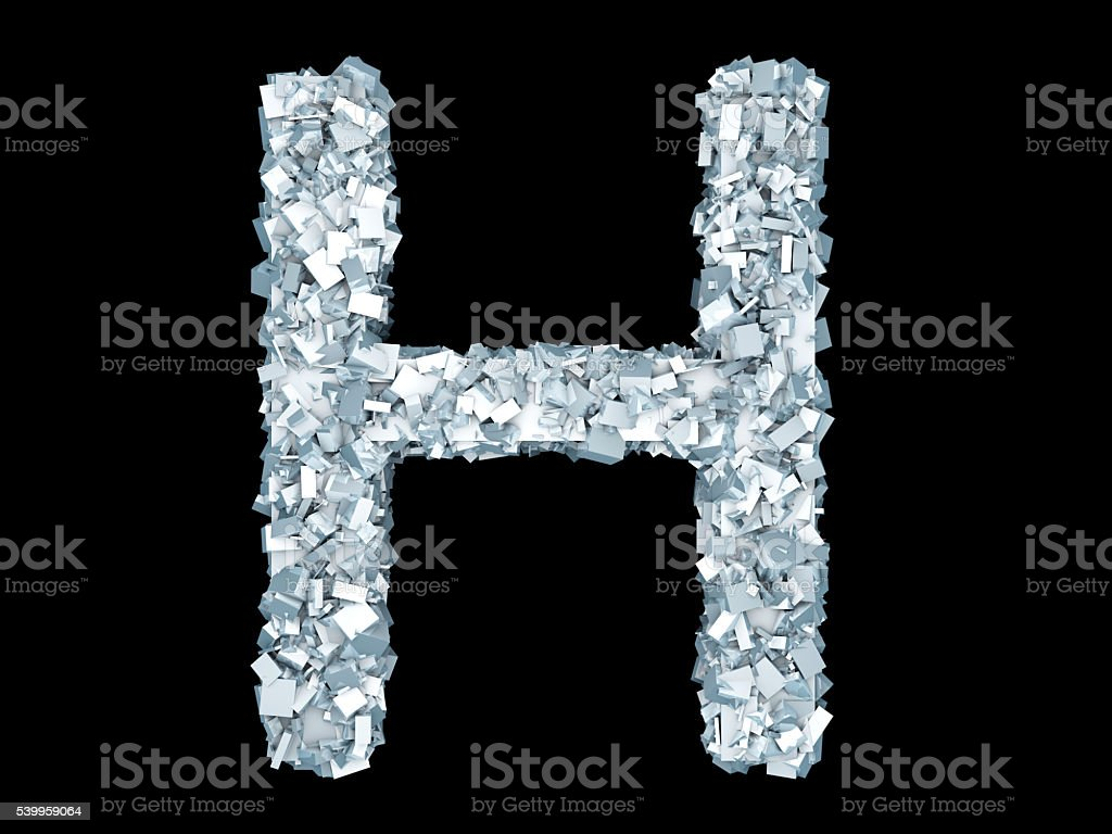 Frozen Letter H Stock Photo - Download Image Now - iStock