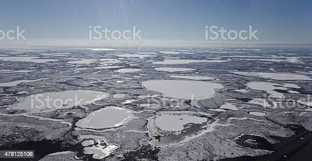 Photo of Frozen Mackenzie River Delta, NWT, Canada