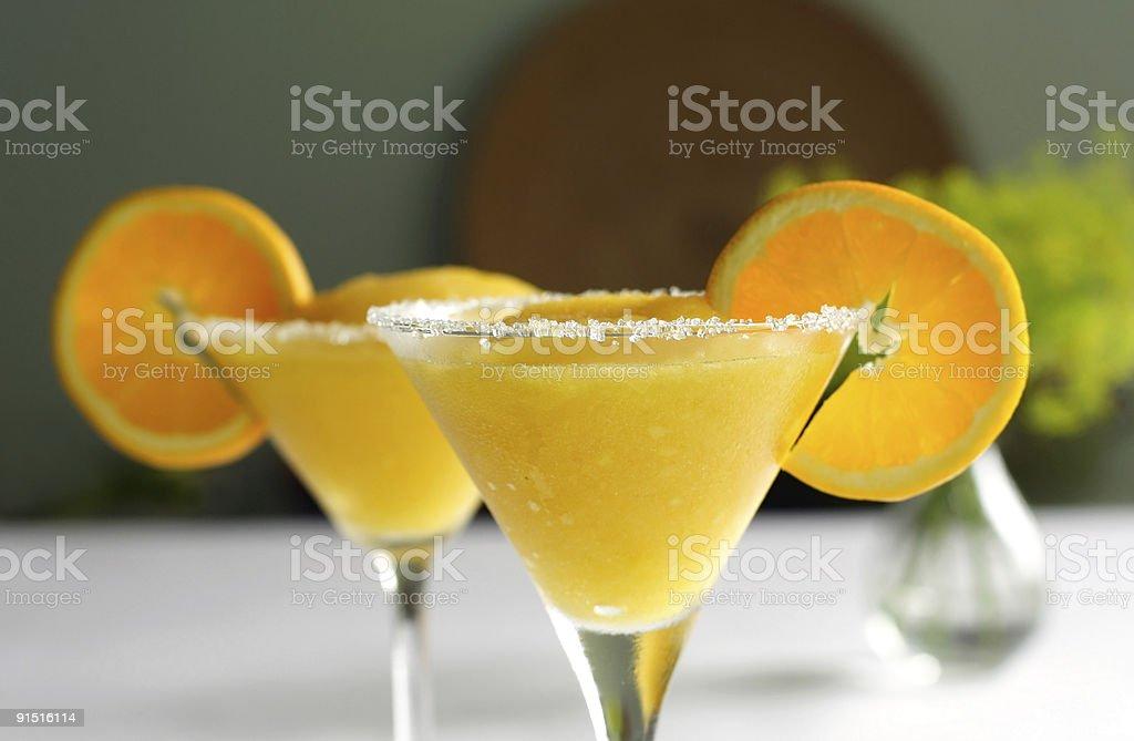 frozen mango margarita stock photo