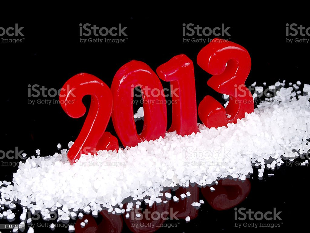 Frozen new year  2013 royalty-free stock photo