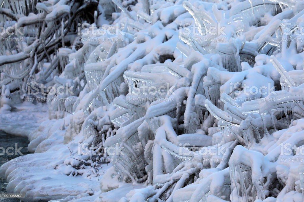 Frozen Niagara Falls Stock Photo Download Image Now Istock