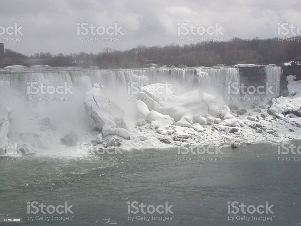 Frozen Niagara royalty-free stock photo