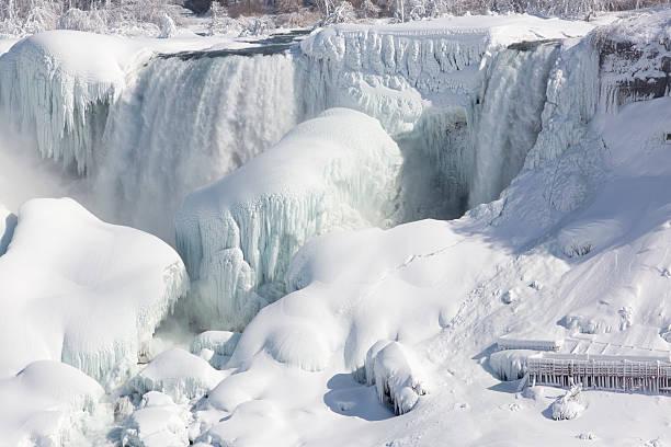 Frozen Niagara Waterfalls stock photo