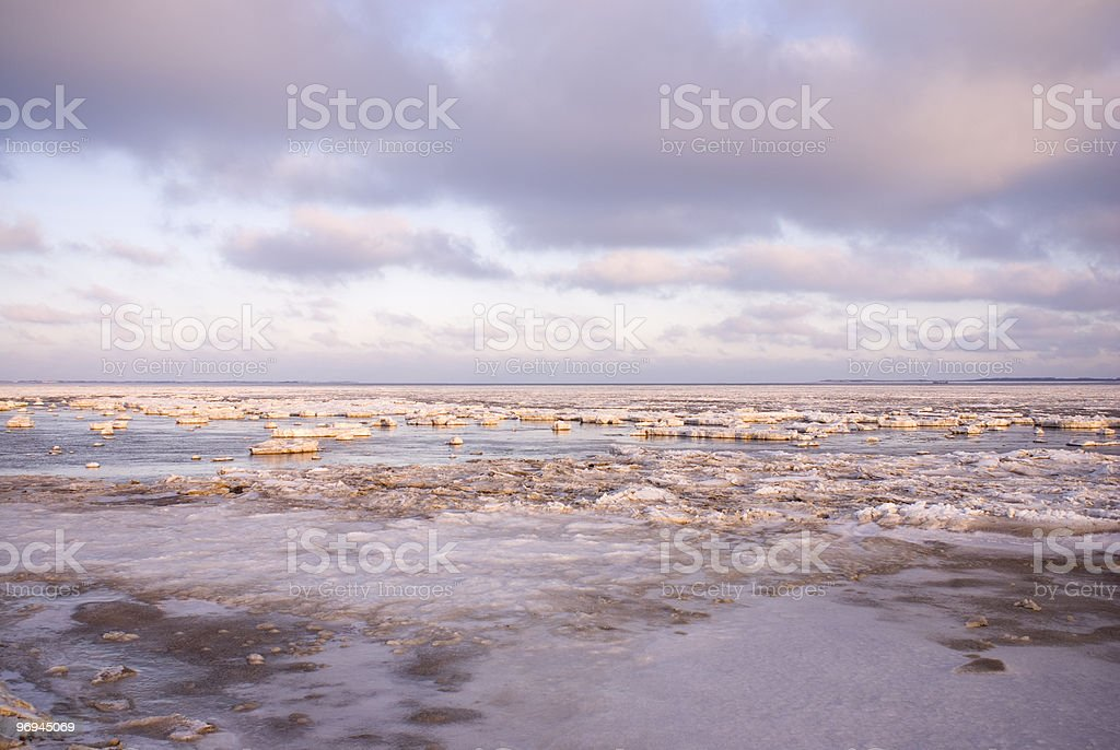 Frozen Northsea royalty-free stock photo