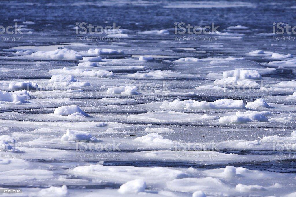 Frozen ocean background royalty-free stock photo