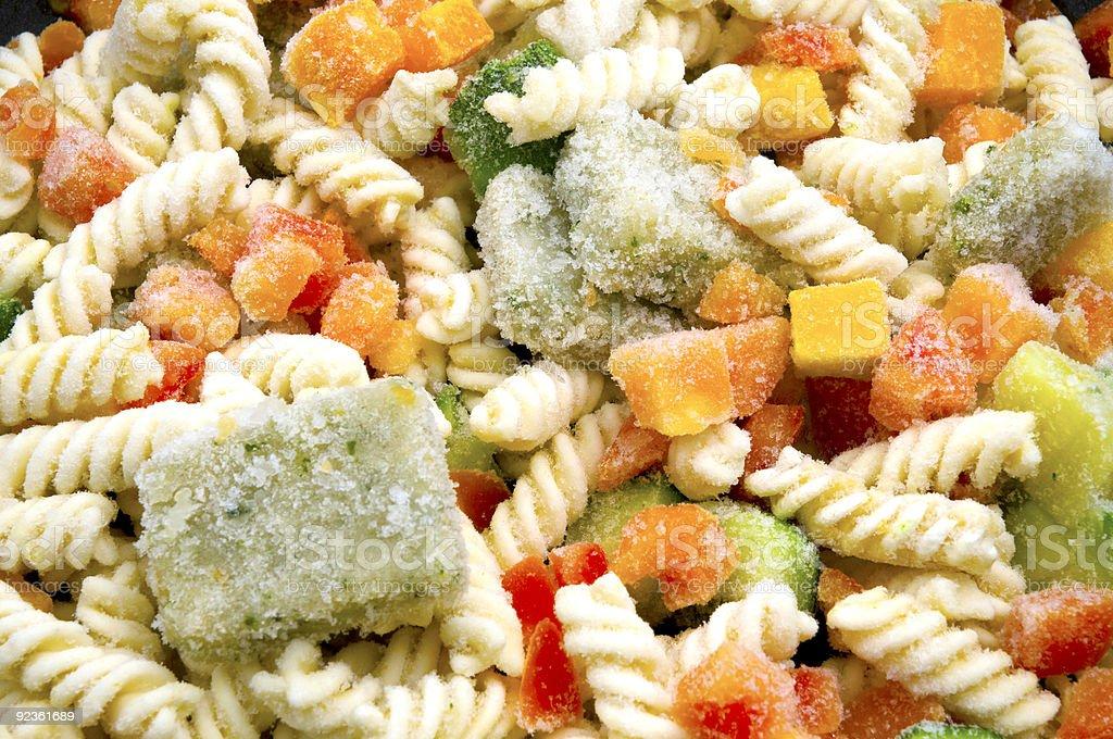 Frozen Pasta royalty-free stock photo