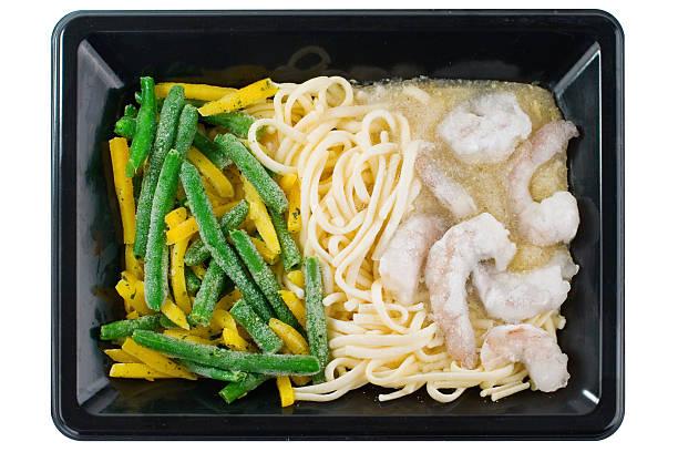 Frozen Pasta TV Dinner stock photo