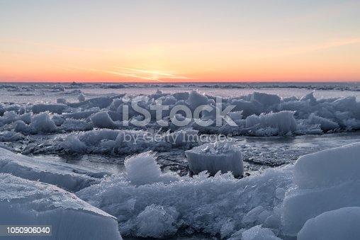 frozen, Peipsi lake, Cloud - Sky, Fog, Horizon, Horizon Over Water, Lake, Amazing sunrise over icecovered lake