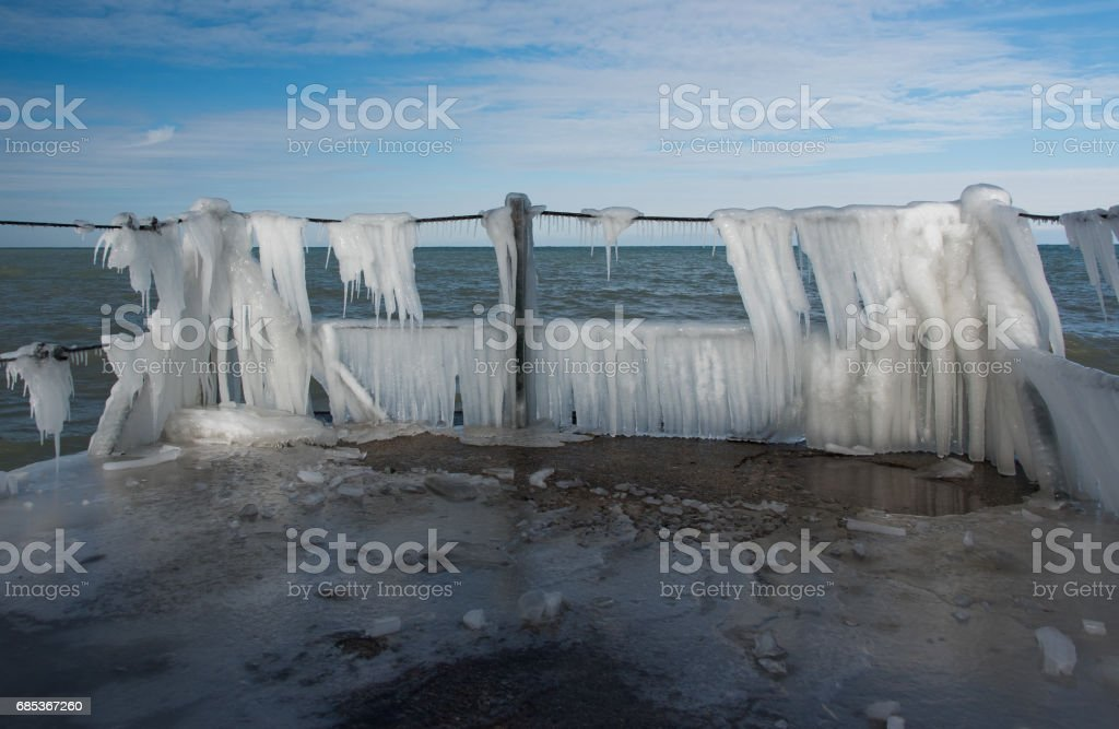 Frozen pier foto de stock royalty-free