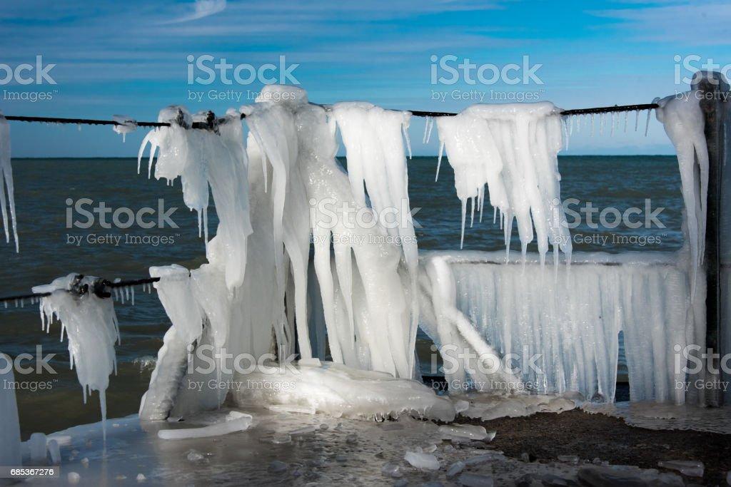 Frozen pier foto de stock royalty-free