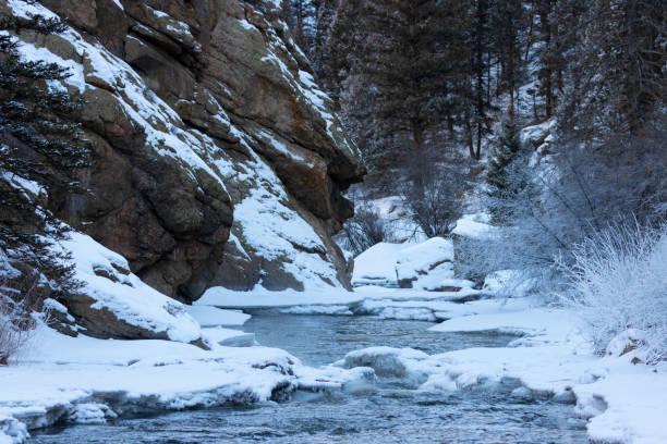 Frozen Platte River stock photo
