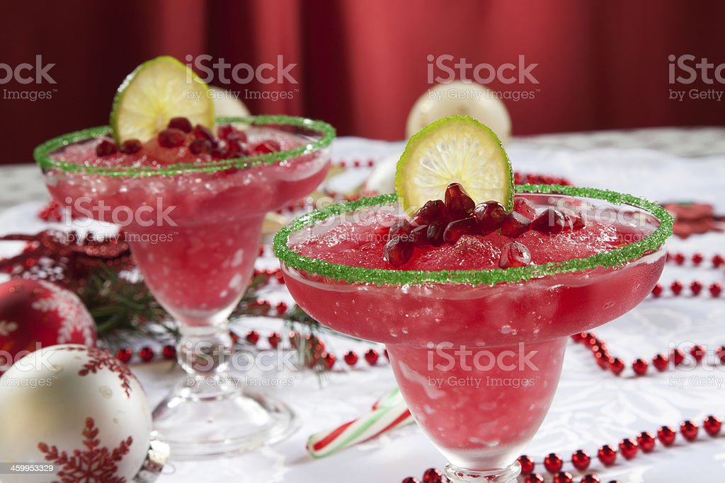 Frozen Pomegranate Margaritas stock photo