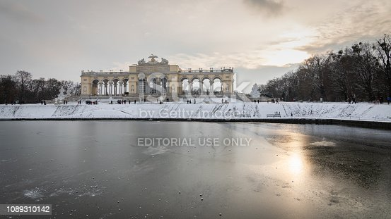 istock Frozen pond and Gloriette at the top of Schonbrunn Palace, Vienna, Austria 1089310142