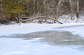 Frozen Pond Quispamsis New Brunswick Canada