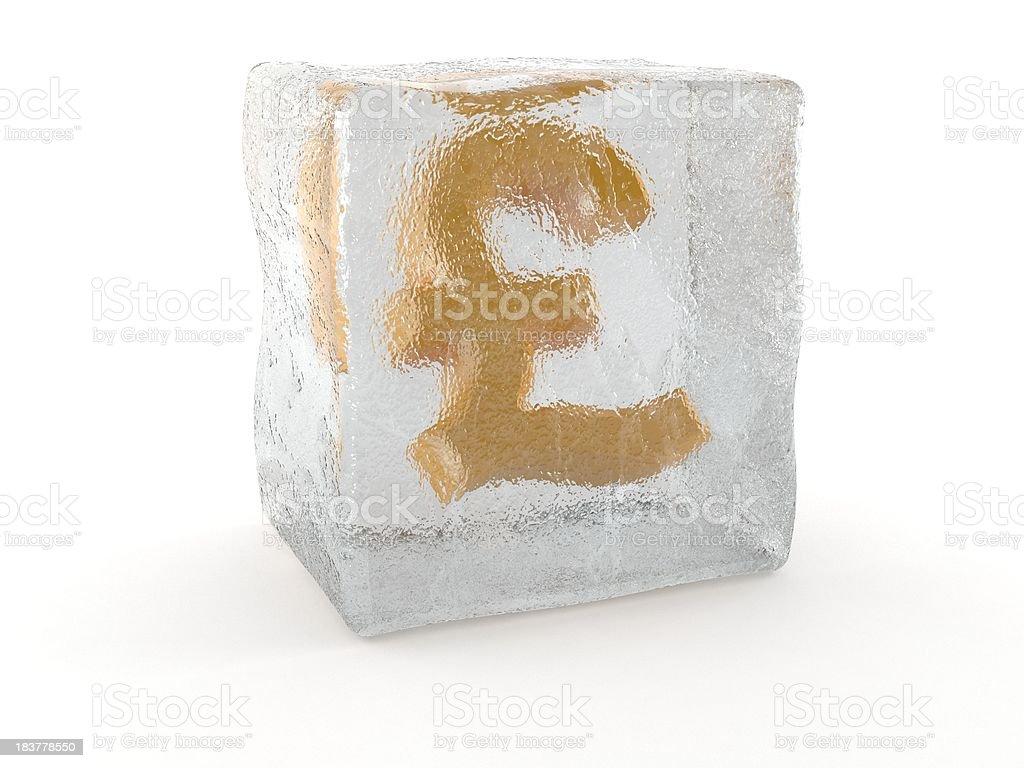 Frozen pound royalty-free stock photo