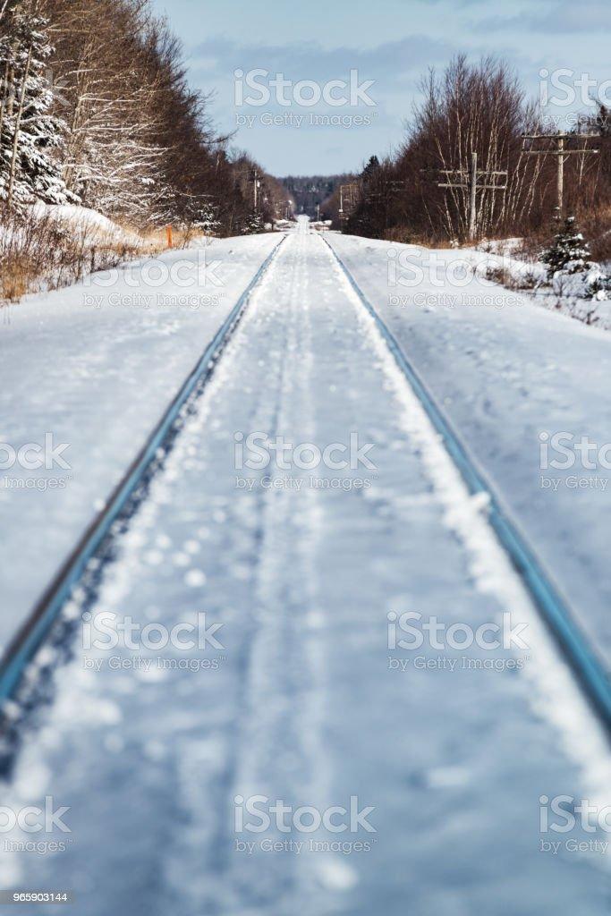 Frozen Railway - Royalty-free Canada Stock Photo