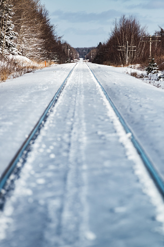 Frozen Railway Stock Photo - Download Image Now