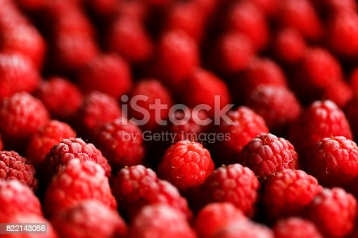 istock Frozen Raspberry Background 822143086
