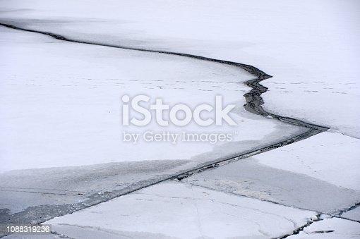 istock Frozen river water 1088319236