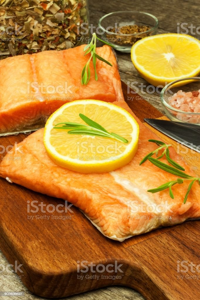 Frozen Salmon On The Kitchen Table Diet Food Home Cooking