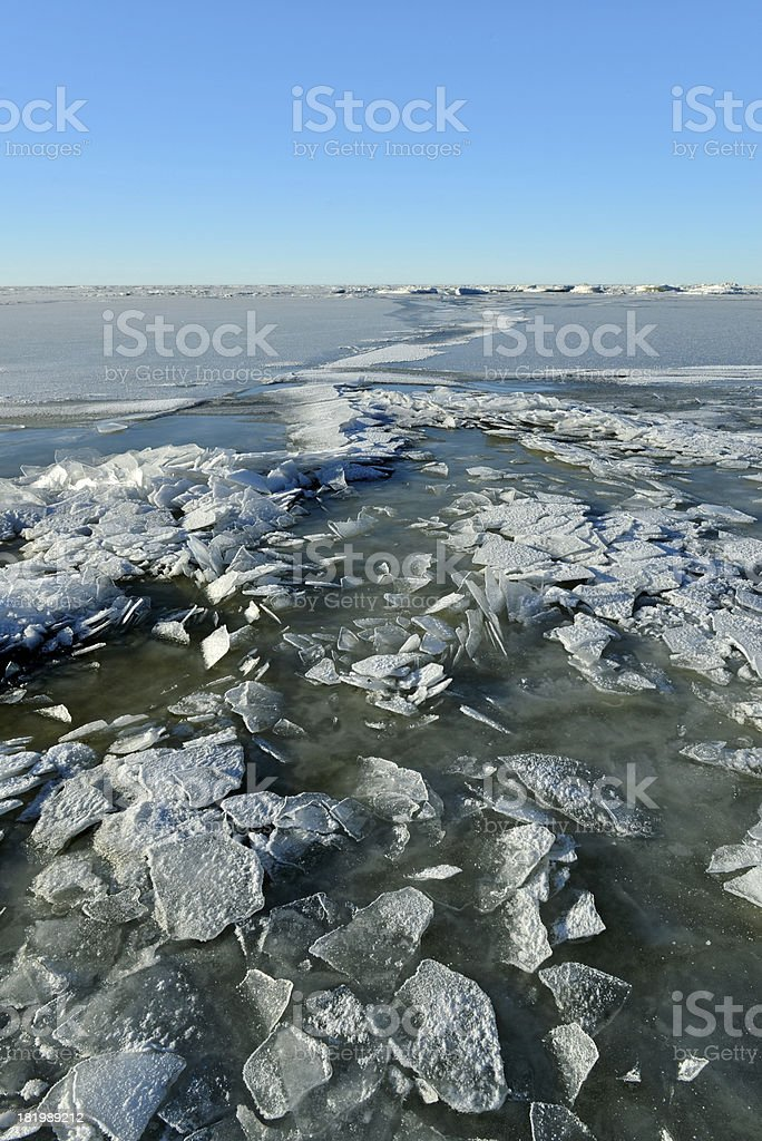 Frozen sea royalty-free stock photo