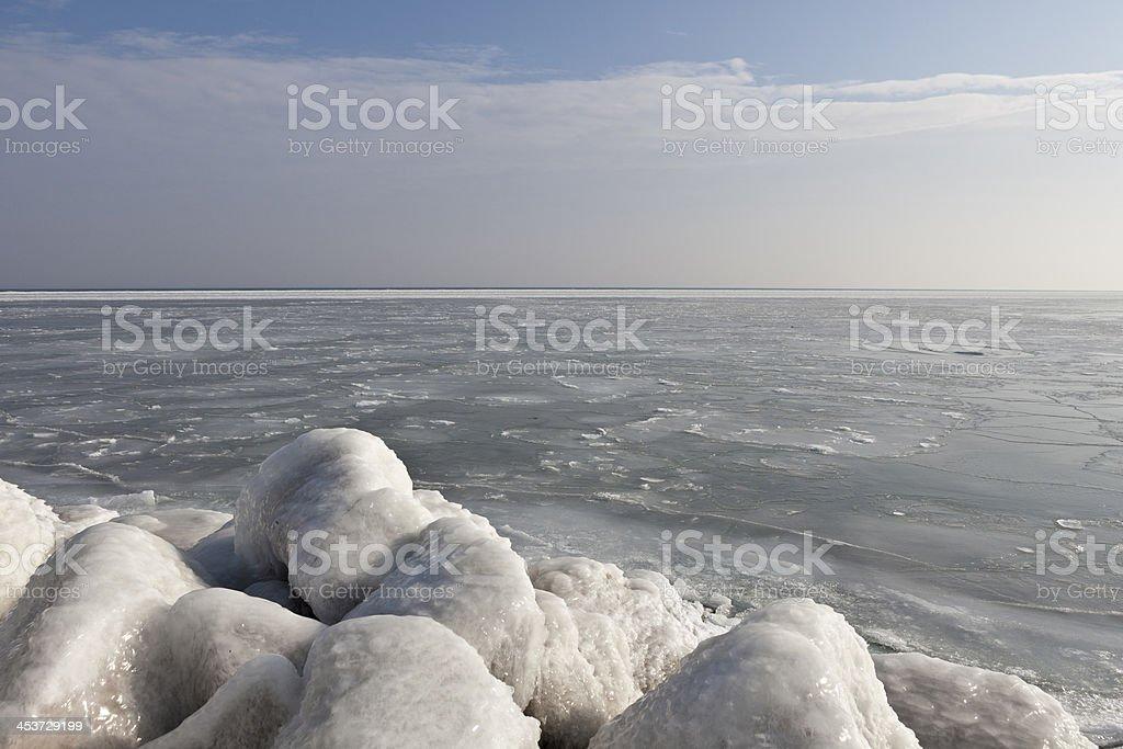 Frozen sea royalty-free stock photo