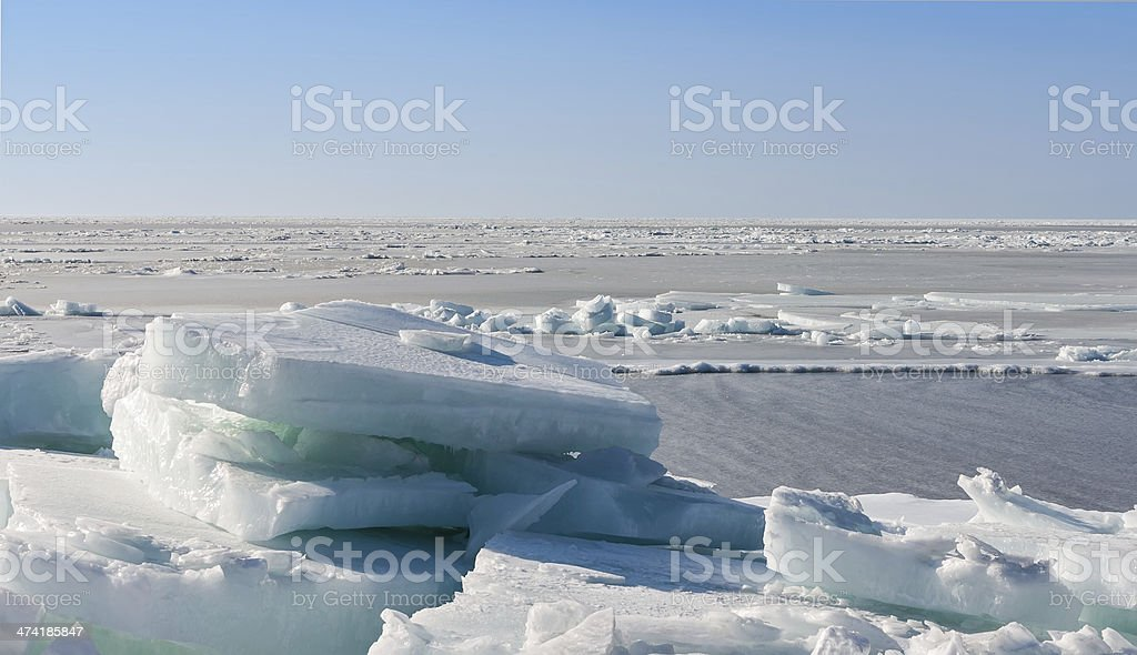 Frozen sea. stock photo