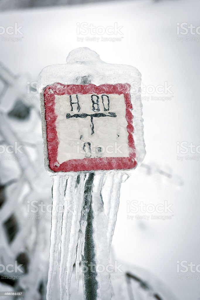 Frozen Sign royalty-free stock photo