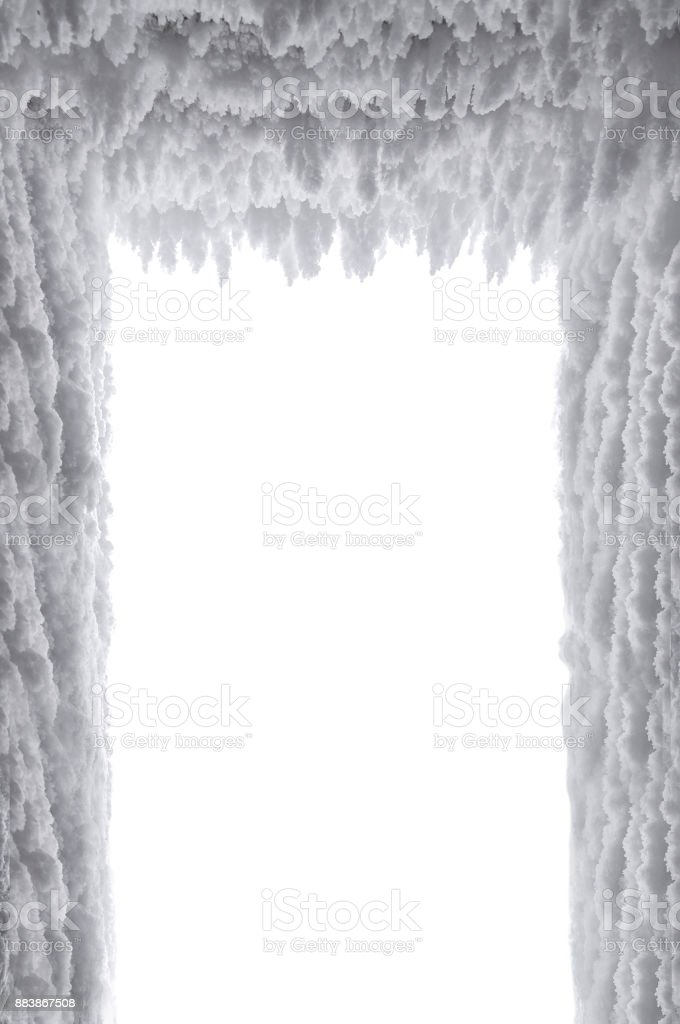 frozen snow as a background stock photo