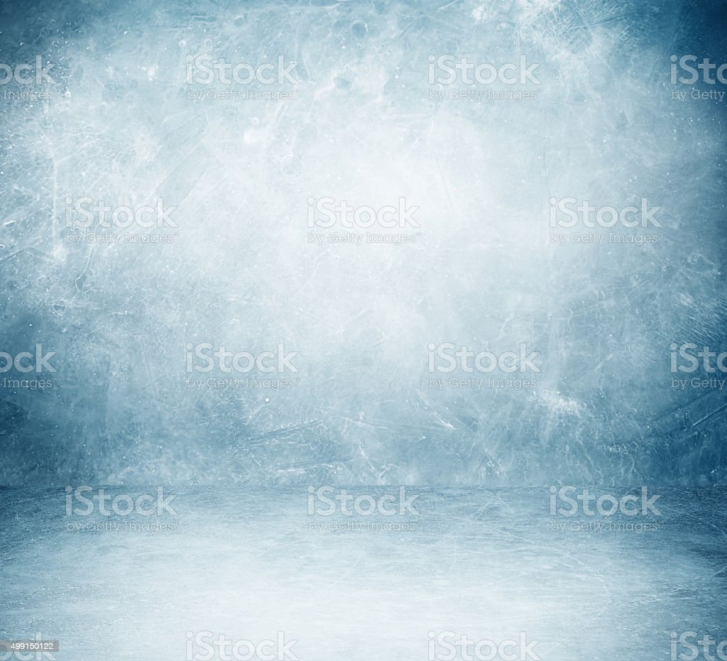 frozen snow room stock photo