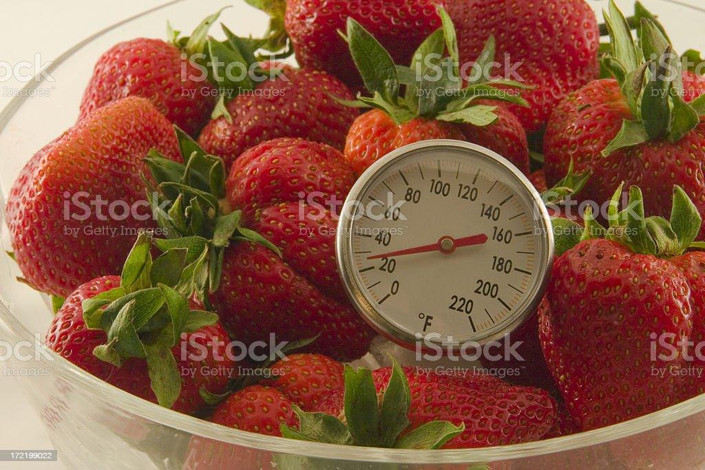 Frozen Strawberries stock photo