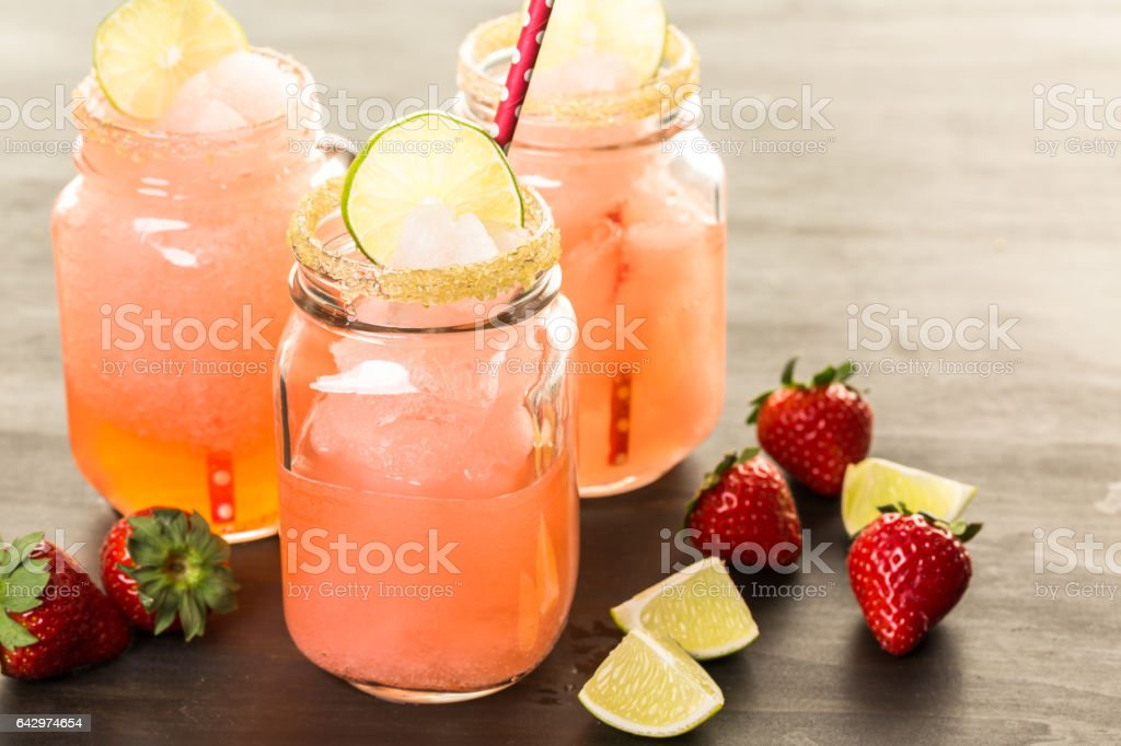 Frozen strawberry margarita cocktail - Photo