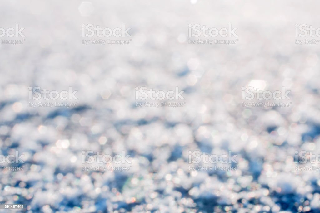 Frozen surface of road close up. stock photo